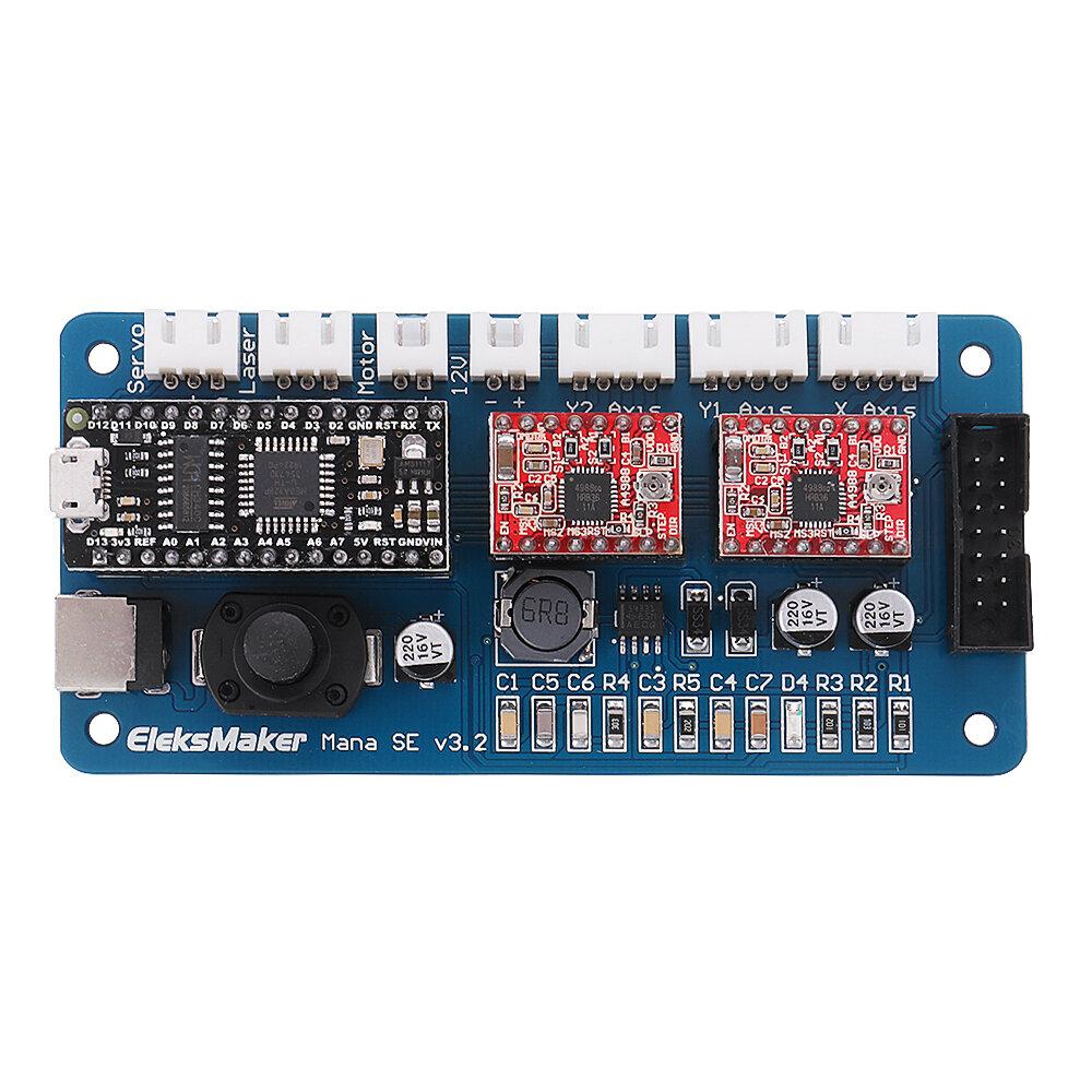 EleksMaker® ManaSE 2 cartes de contrôleur de conducteur de moteur pas à pas d'axe pour le graveur de laser de DIY