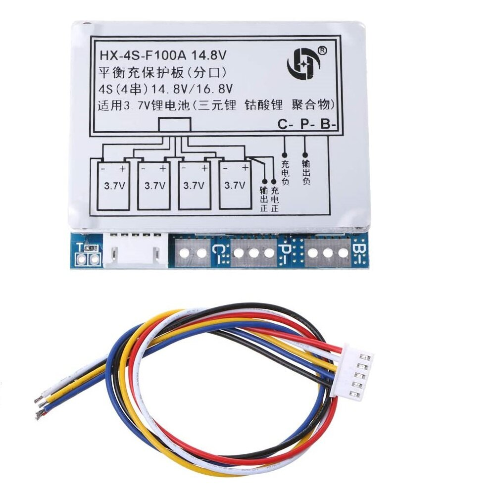 HX-4S-3.2V-100A 14.8V Li-ion Lithium 18650 Battery BMS PCM Protection Board with Balance