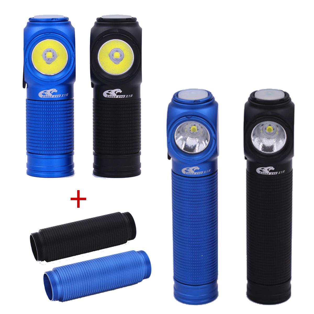 Eagle Eye X1R XP-L Cool White Yellow Natural Light USB Charging Portable Mini EDC LED 18350 Flashlight Torch with 18650 Tube