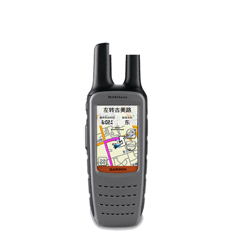 Garmin Rino® 650 GPS Walkie-talkie Interphone Handheld Outdoor Mountaineering Dedicated Talkback Location Navigator Touch Screen Instant Messages Transmission Location Shared Electronic Compass