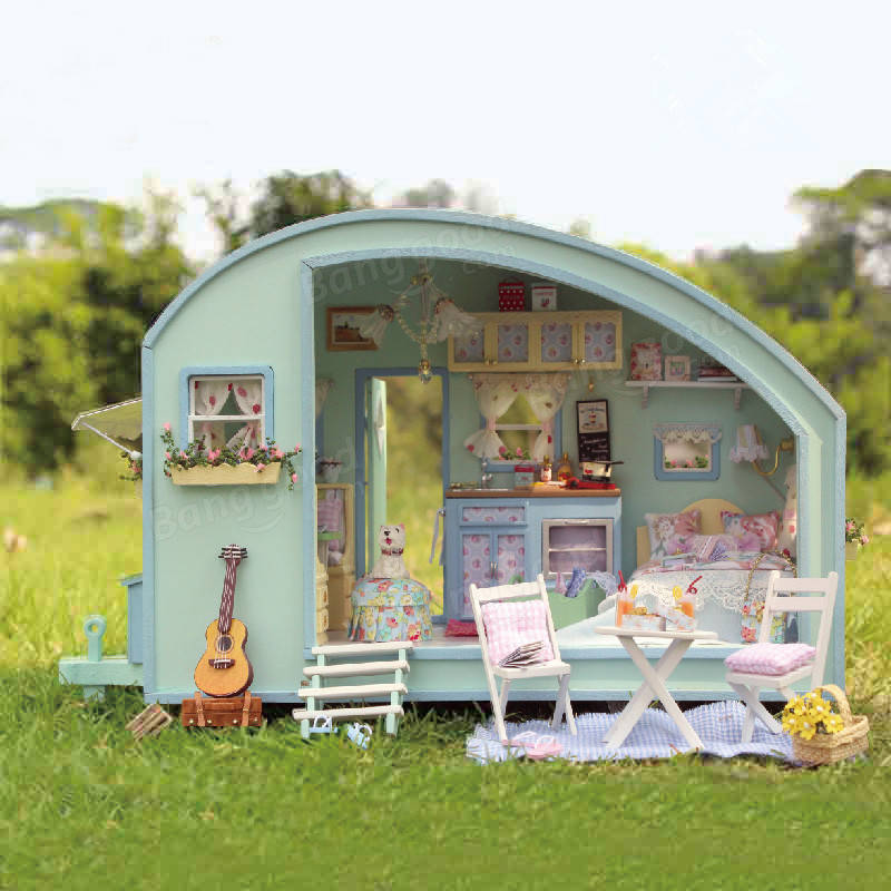 Cuteroom A 016 Time Travel Diy Wooden Dollhouse Miniature Kit Doll House Led Music Voice Control