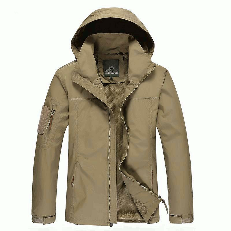 Taille M 3XL Hommes Outdoor Casual Automne Polyester Zipper Warm Coat Jacket Outwear - 1