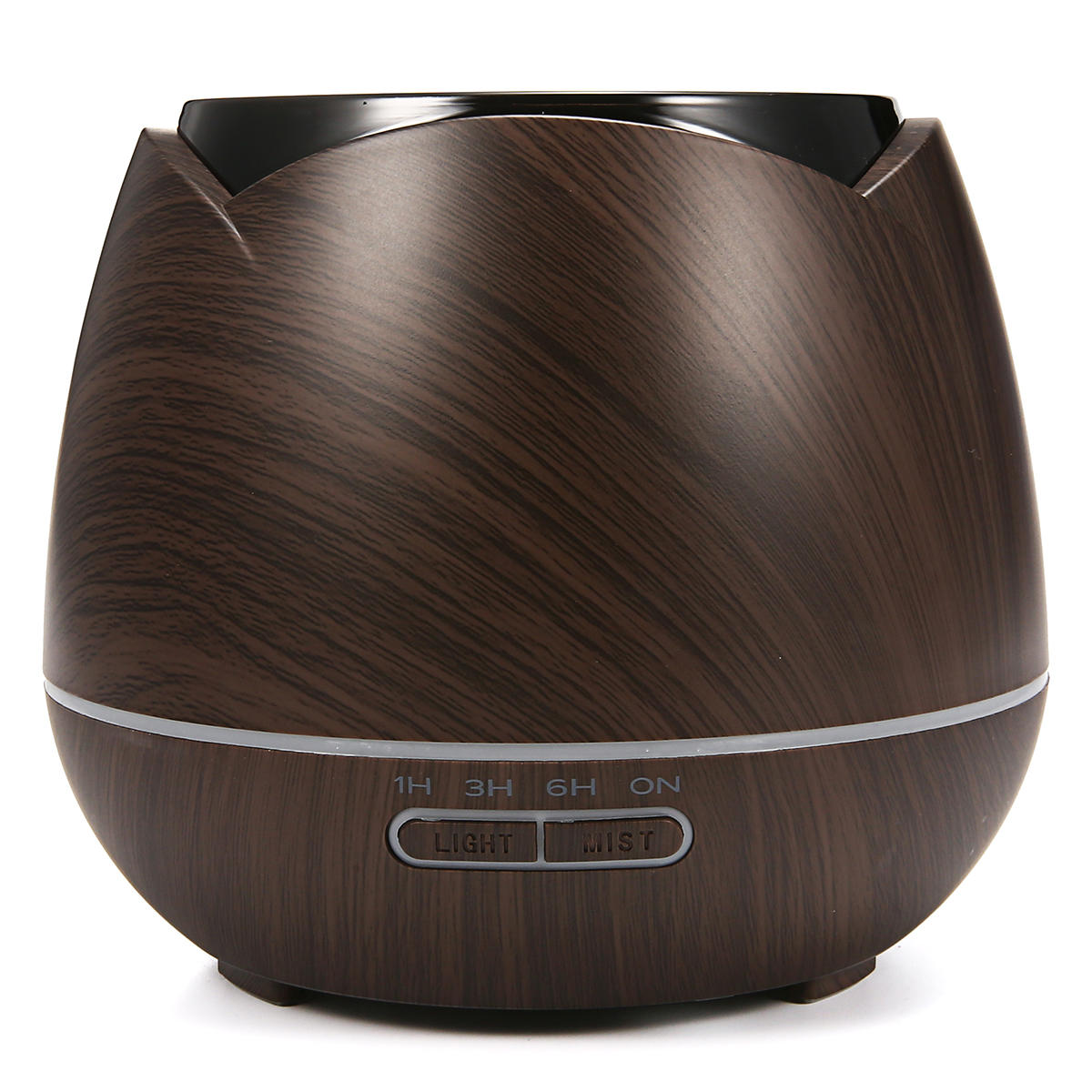 Luckyfine 7Color Light 400ML Wood Grain Aromatherapy Diffuser Portable Ultrasonic Cool Mist Humidifier