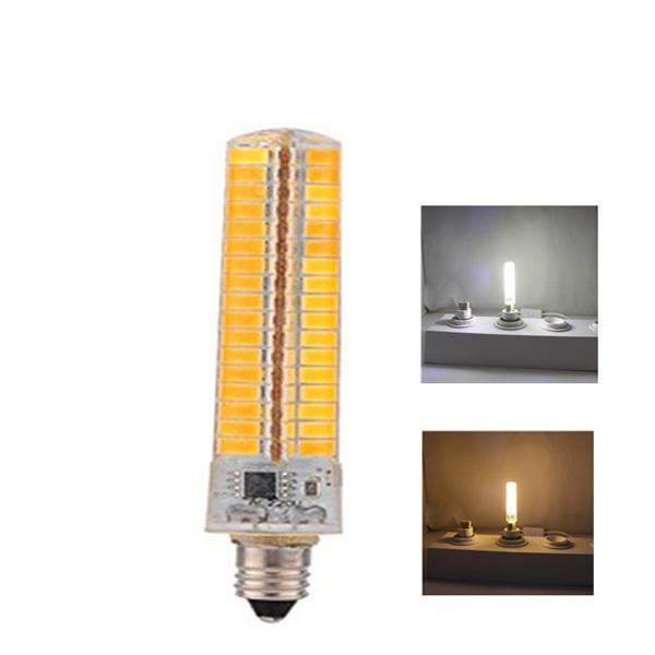 E11 7W Dimmable SMD5730 Warm White Pure White 136LEDs Corn Light Bulb AC110/220V