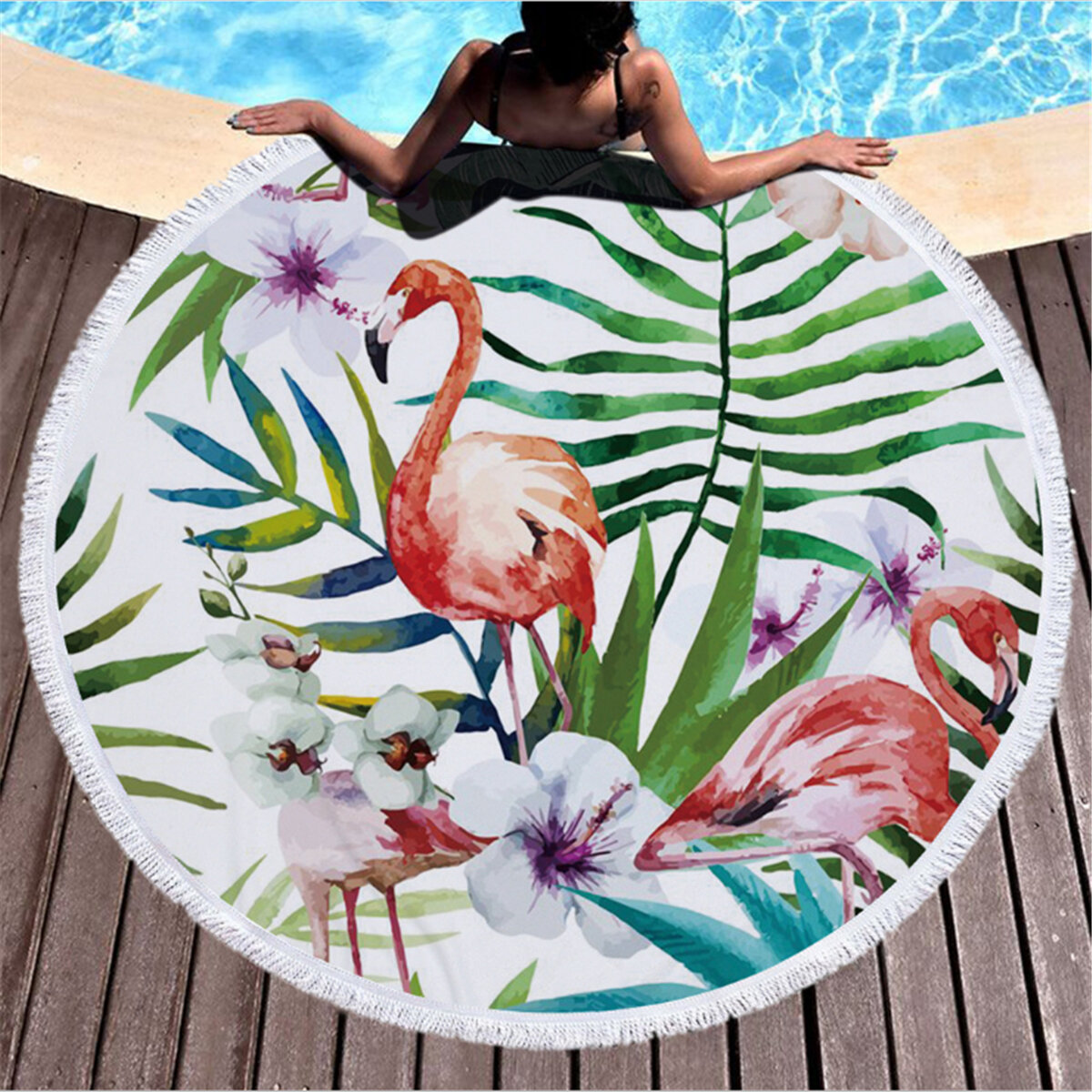 Honana WX-88 135x200cm Butterfly Bohemian Chiffon Beach Women Shawl Skirt Beach Mat Tapestry - 2