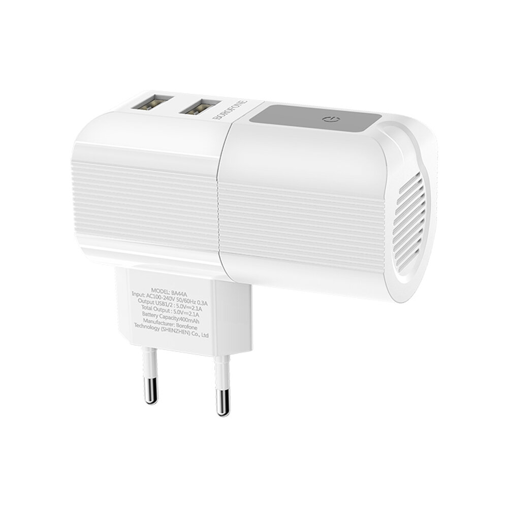 BOROFONE 2.1A Dual USB Fast Charging USB Charger Wireless Speaker For Huawei P30 Pro P40 Mate 30 Mi10 K30 S20 5G