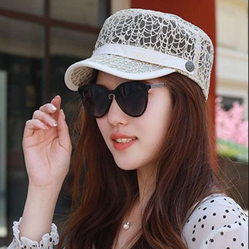 Women Summer Thin Breathable Sunscreen Flat Hats Outdoor Casual Travel Visor Hat