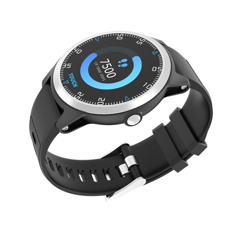 [bluetooth 5.0]Bakeey GW16 Full Round Touch Screen Wristband Thermometer Immunity HR Blood Pressure O2 Monitor Weather Display Smart Watch - 9