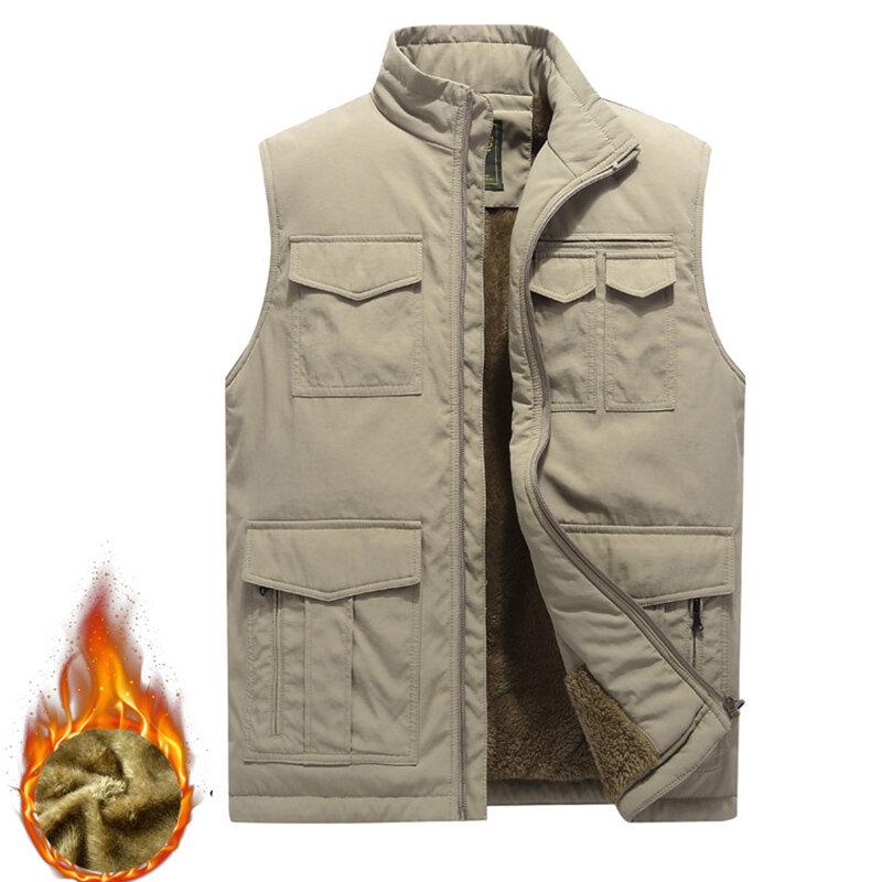 Thick Warm Sleeveless M-4XL Inluslated Padded Men Vest - 2