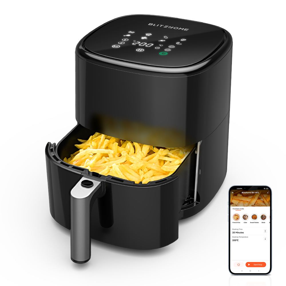 BlitzHome BH-AF2 5L Smart Air Fryer with APP Control RNC Technology 360°...
