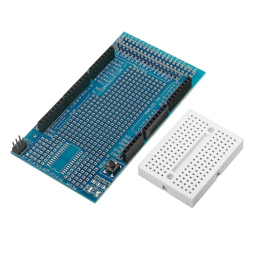 Mega2560 1280 Protoshield V3 Expansion Board With Breadboard For Arduino