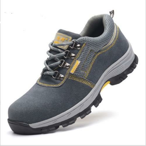 AtreGo Men Steel Toe Work Shoes Safety Anti-smash Shoes Mesh Trainers Lightweight Casual Hiking Shoes - 2