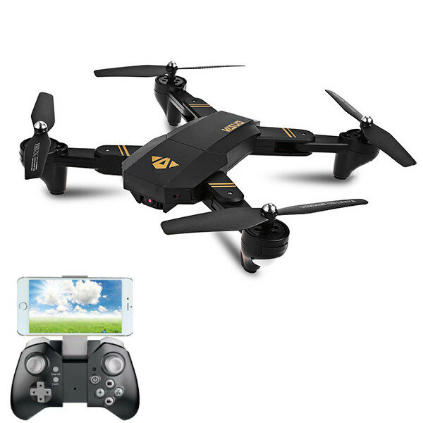 VISUO XS809HW WIFI FPV con Gran Angular HD Cámara de Alta Hold Modo Plegable Brazo RC Quadcopter RTF