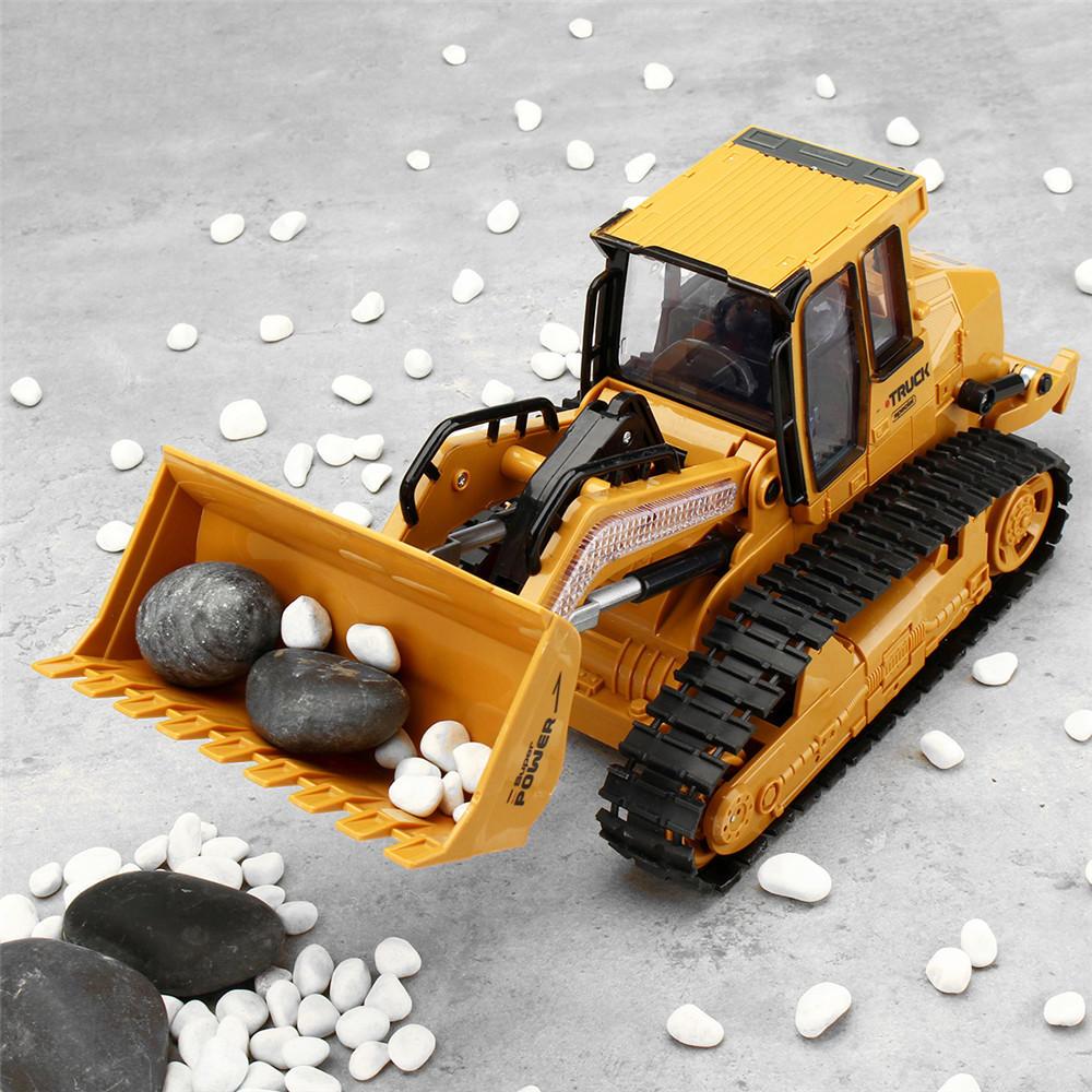 XiemingXM 6822L1/122.4G5CHRc Coche Camión excavadora Caterpillar Excavación de pista Modelo de simulación Juguetes - 12