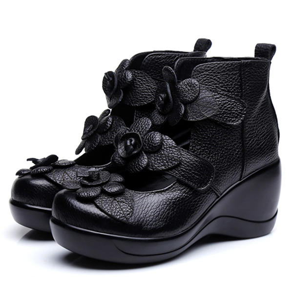 Hollow Out High Heel Casual Comfy Platforms Women Shoes - 6