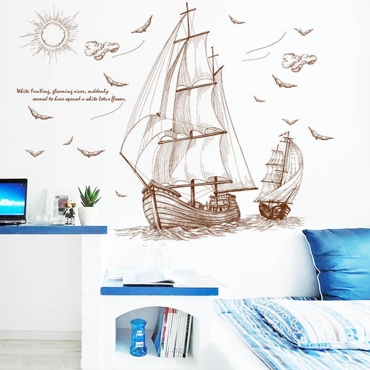 47x35  Gran barco pirata vela etiqueta