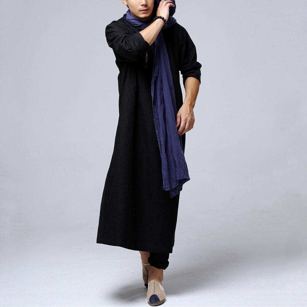 Vintage Hooded Cloak Loose Long Cape Coats Cosplay Costume - 4