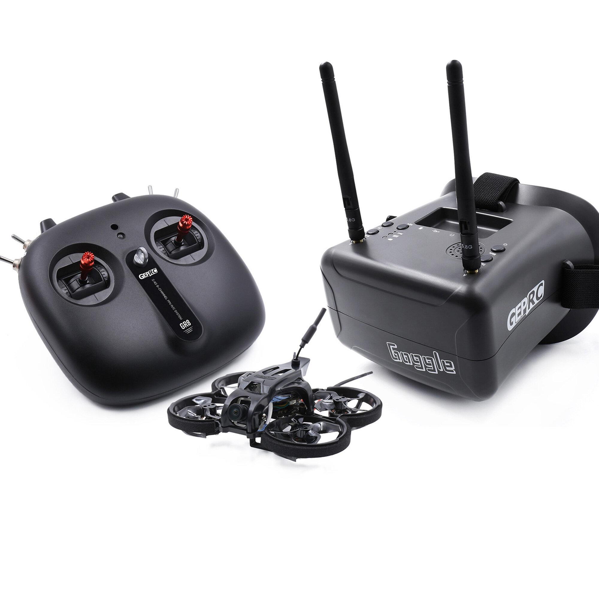 Banggood coupon: GEPRC TinyGO 1.6inch 2S 4K Caddx Loris FPV Indoor Whoop + GR8 remoto Controlador + RG1 Goggles RTF pronto para voar FPV