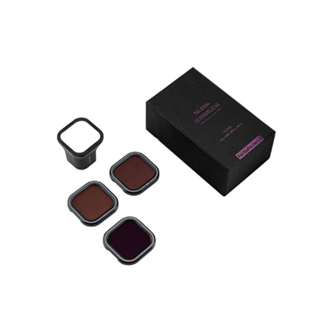 TELESIN ND8 ND16 ND32 Набор магнитных фильтров Объектив Затемнение Объектив для Gopro Hero 8 Action камера Accessoreis