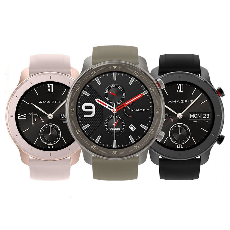 Amazfit GTR 42MM Smart Watch 12 Days Battery Music Control 5ATM Wristband International Version from xiaomi Eco-System