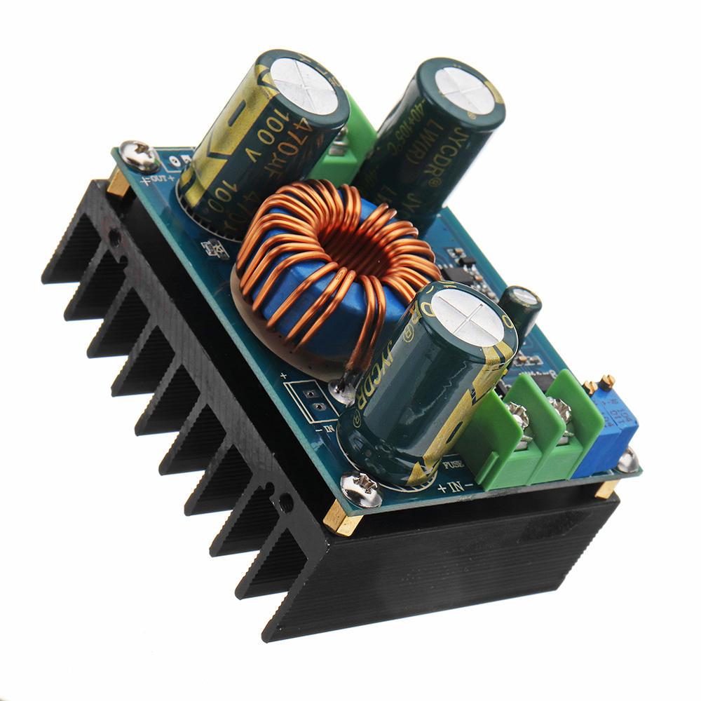 600W 12A تيار منتظم 8V إلى 16 V أو تيار منتظم 12V إلى 60V قابل للتعديل Boost Converter القوة لوحة العرض خطوة متابعة