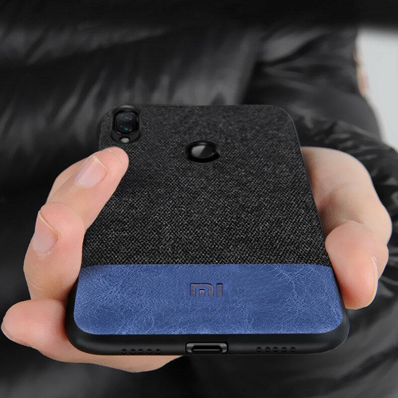 Bakeey Empalme de tela de lujo Soft Silicona Edge Protector a prueba de golpes Caso para Xiaomi Redmi Nota 7