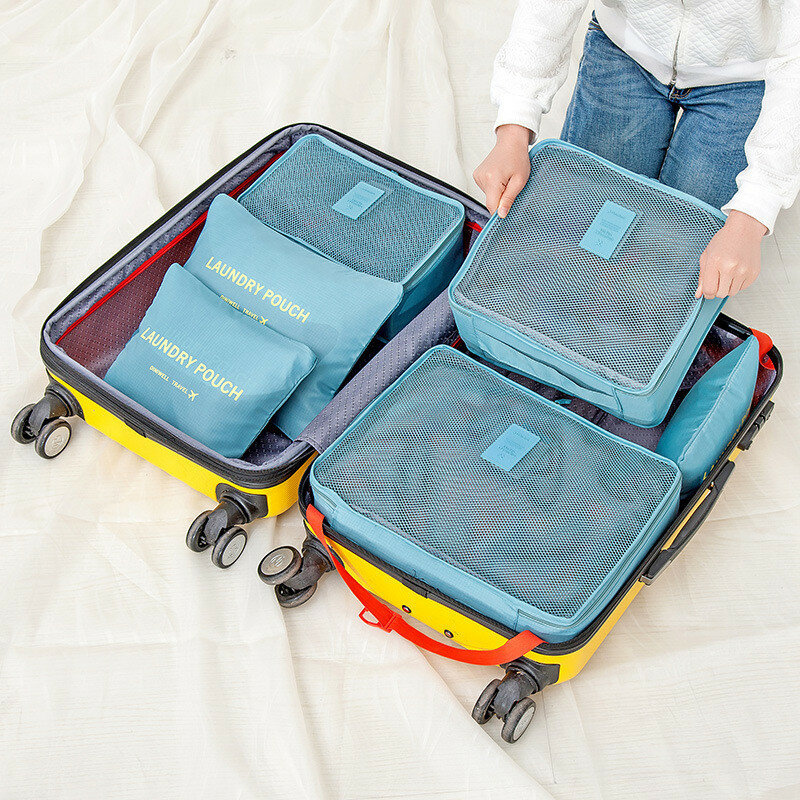 bd23ac11ccbe Honana HN-TB8 6Pcs Waterproof Travel Storage Bags Packing Cube Clothes  Pouch Luggage Organizer