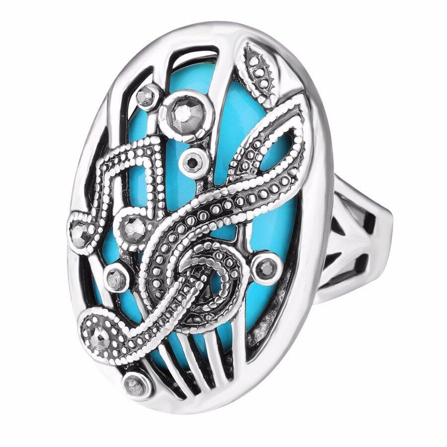 אתני חלול לגלף אצבע טבעת מוסיקה משחק ריינסטון אובלית טבעת גיאומטרי וינטג תכשיטים לנשים