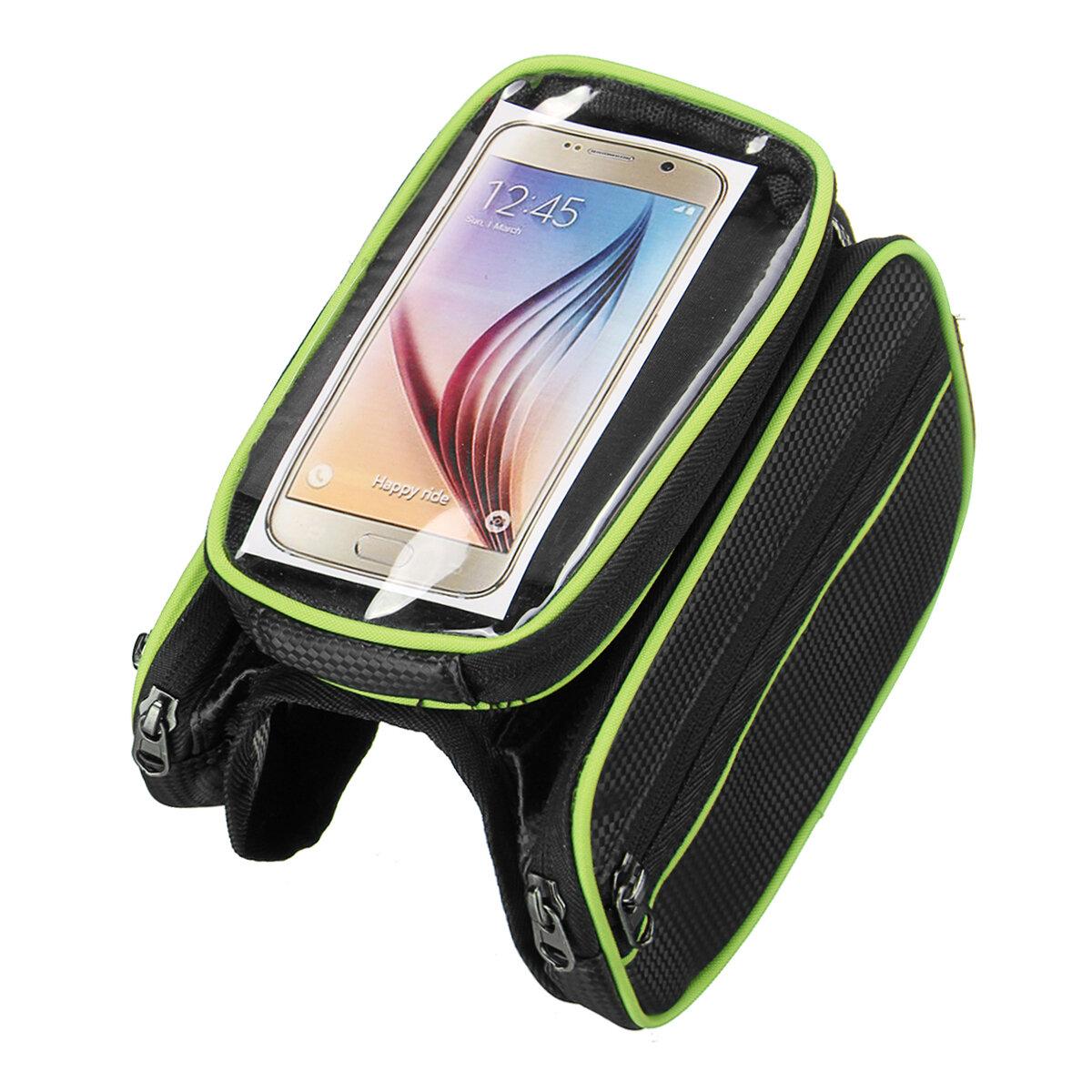 BIKIGHTBiciperbiciclettaanterioretelaio tubo Phone Borsa Touch Screen impermeabile doppio sacchetto ciclismo Borsa - 4