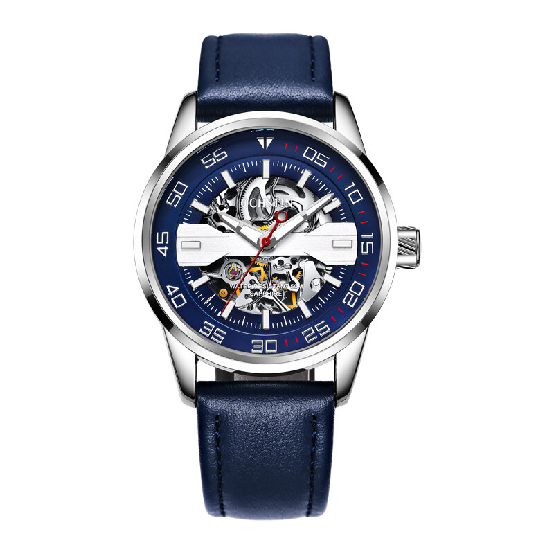 DEFFRUN Business Style Full Steel Automatic Mechanical Watch - 3