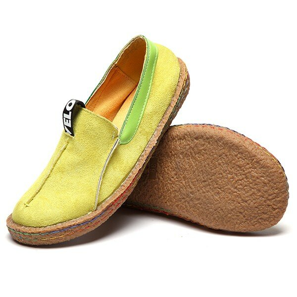 Comfortable Hollow Out Splicing Flat Loafers - 2