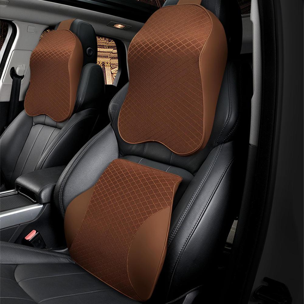 Memory Foam Car Headrest Pillow Seat Back Cushion Breathable Neck Waist Rest Support Cushion фото