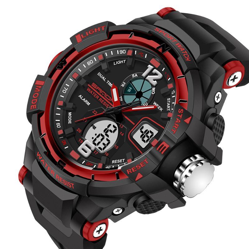 SANDA 789 Fashion Children Digital Sport Watch Multifunction Dual Display Boy Girl Watch