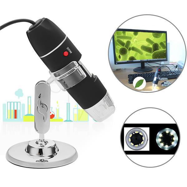 1000X 8 LED USB2.0 Digital Microscope Endoscope Biological Zoom Camera with Bracket