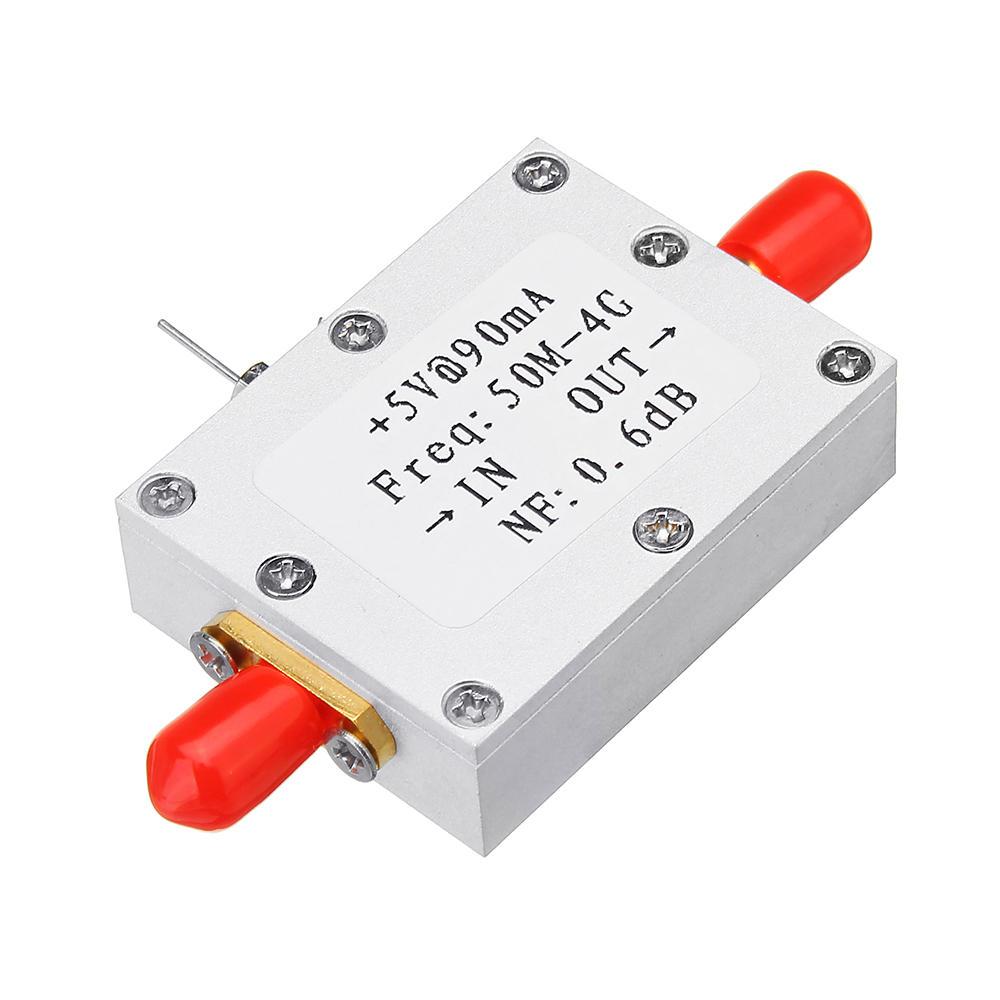 RF مضخم صوت منخفض الضوضاء وحدة Ham راديو LNA 50M-4GHz NF = 0.6dB RF FM HF VHF / UHF Ham راديو -110dBm