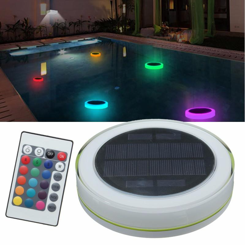 Solar Power RGB Under Water LED Garden Pond Swimming Pool Floating Light, Banggood  - buy with discount
