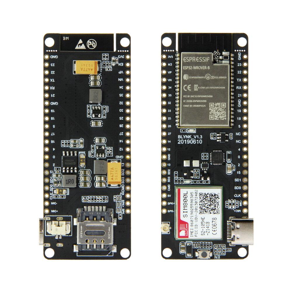 LILYGO® TTGO T-Call V1.3 ESP32 Modul Nirkabel GPRS Kartu SIM Antena SIM800L Papan