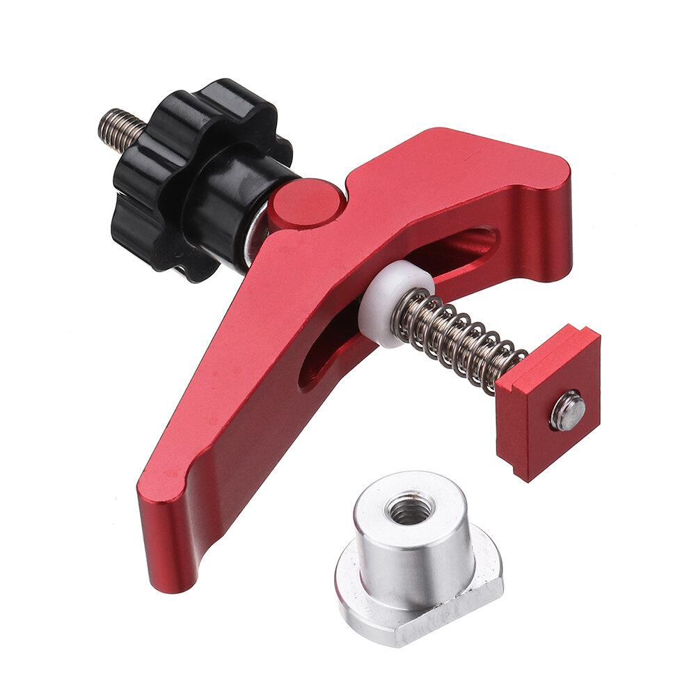 HONGDUI Красный быстродействующий прижим Зажим Т-образный паз из алюминиевого сплава Зажим Набор для деревообработки Инс