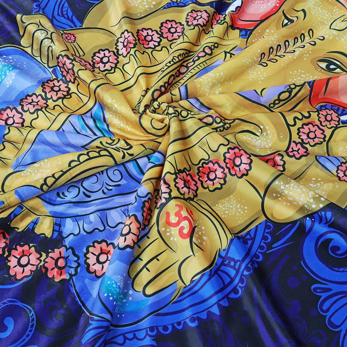 MantasdetiroencapuchadoIndianGanesha Wearable Soft cálido sofá cama cubierta - 7