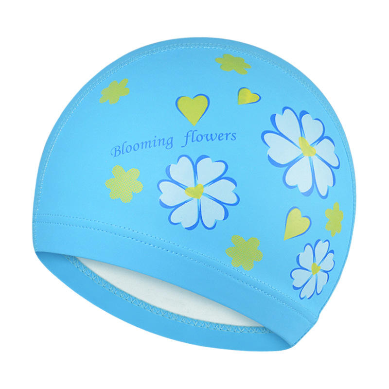 Unisex PU Waterproof Non slip Beanie Cap Flexible Earmuffs Wrap Long Hair Swimming Cap - 6