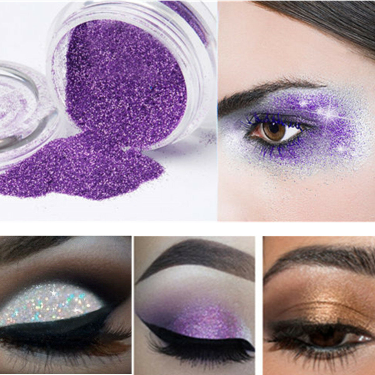 Nail Decoration Makeup Lös Pulver Glitter Profession Ögonskugga Skönhet Eye Shadow Pigment