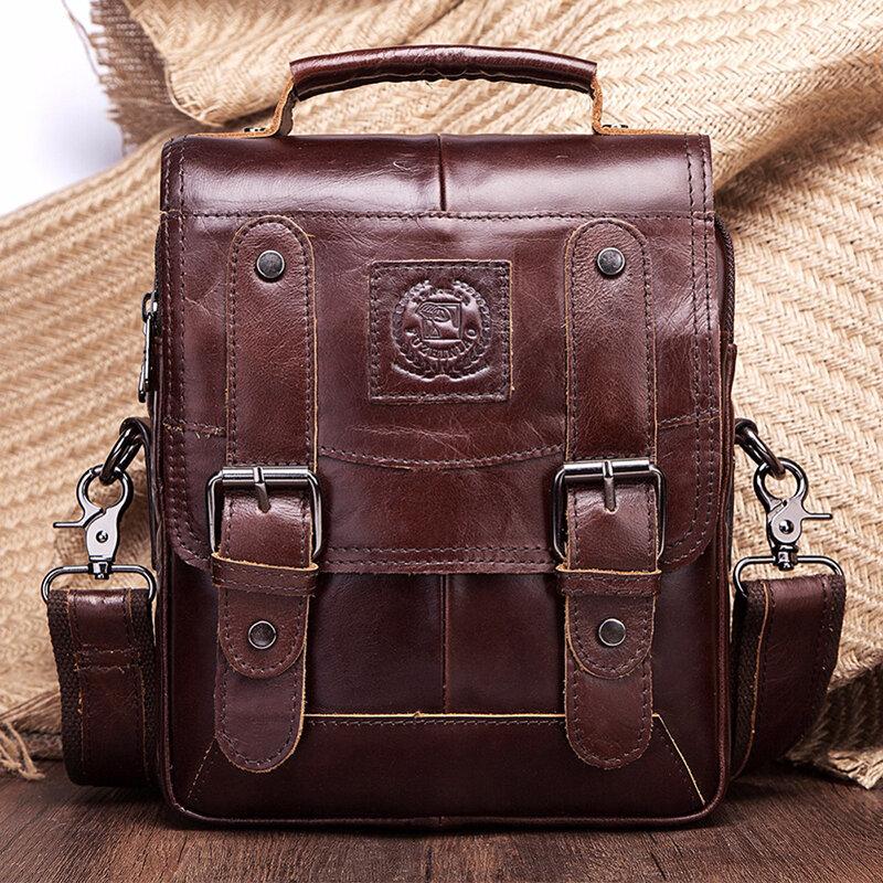 Men Leather Bag Business Briefcase Tote Bags Male Handbag Man/'s Messenger Bags