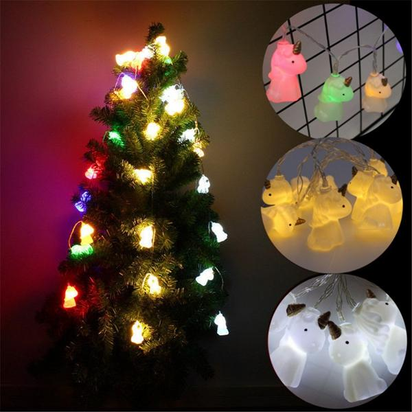 Battery Powered 1.7M 10LEDs Unicorn Indoor Fairy String Lights For Wedding Christmas