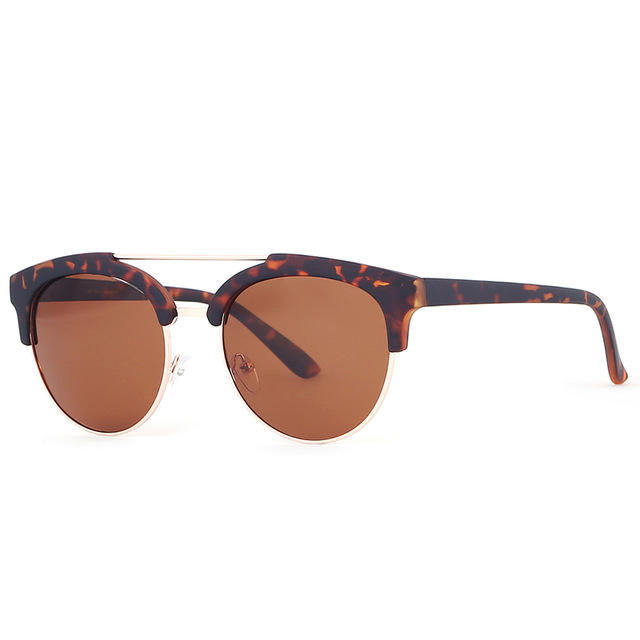KDEAM K9024 Round Glasses Men Glare-reducing Polarized Sunglasses Women All Matching Vintage Goggles With Case