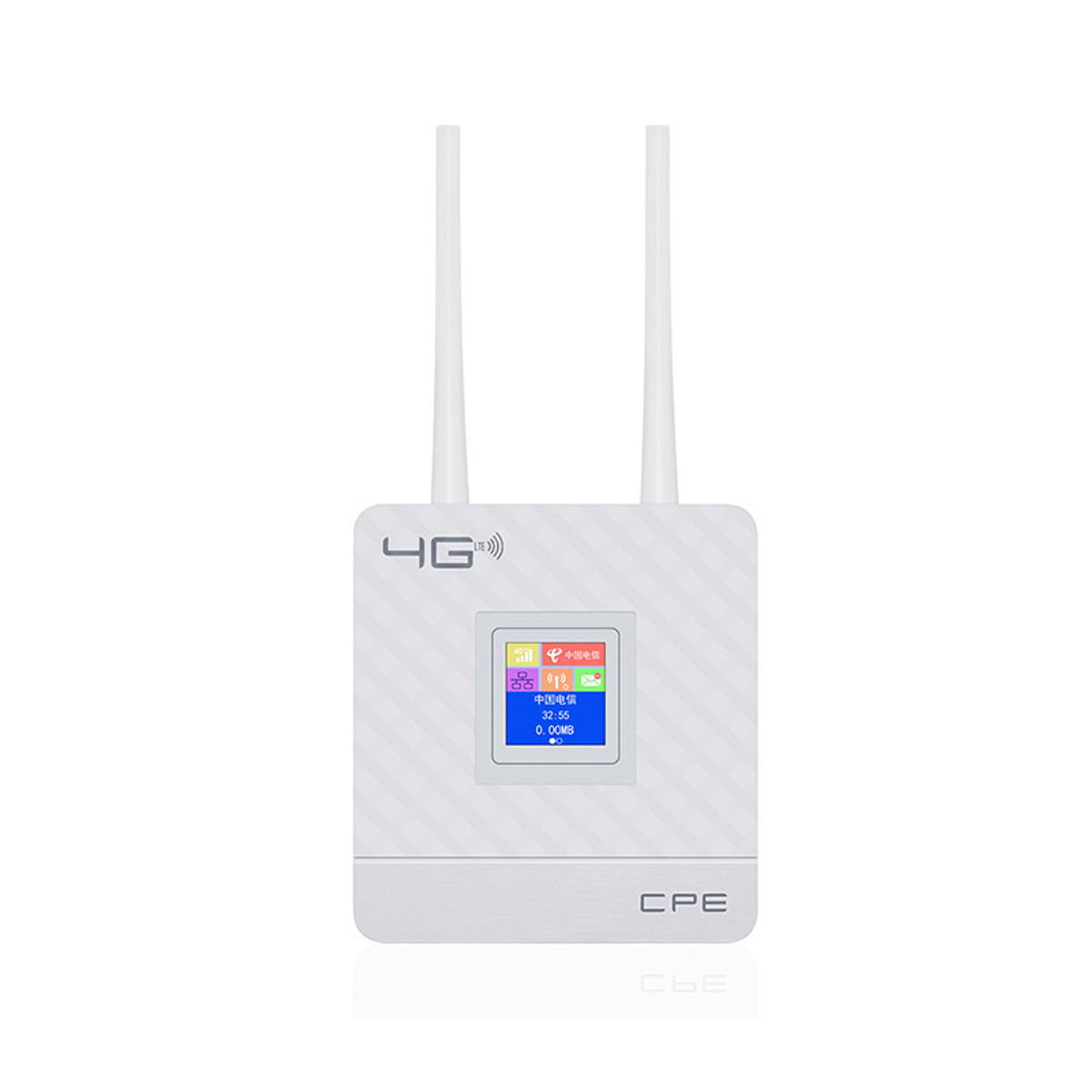 2 4G 4G LTE Wifi Router CPE Router Support for 20 Users with SIM Card Slot  Wirelss Wired Router