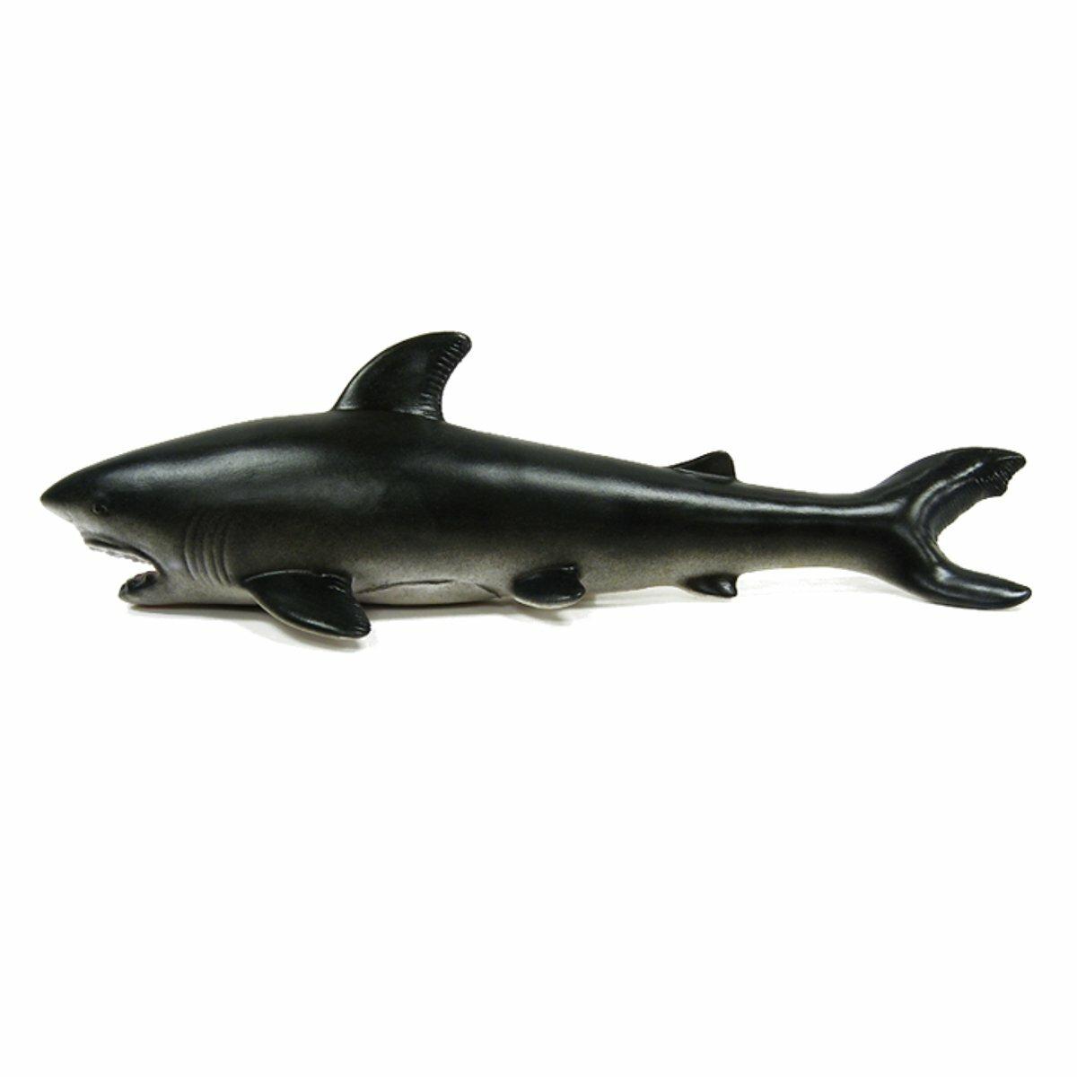 30cm Great White Shark Realistic Rubber Sea Animal Figure Toy Model