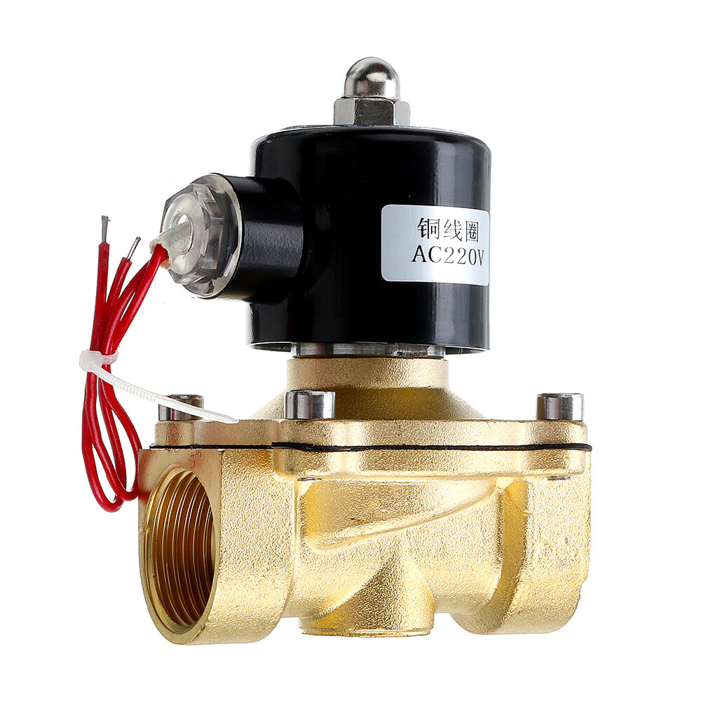 1//2 DC 12V Normally Closed Brass Electric Solenoid Valve For Water Control Solenoid Valve