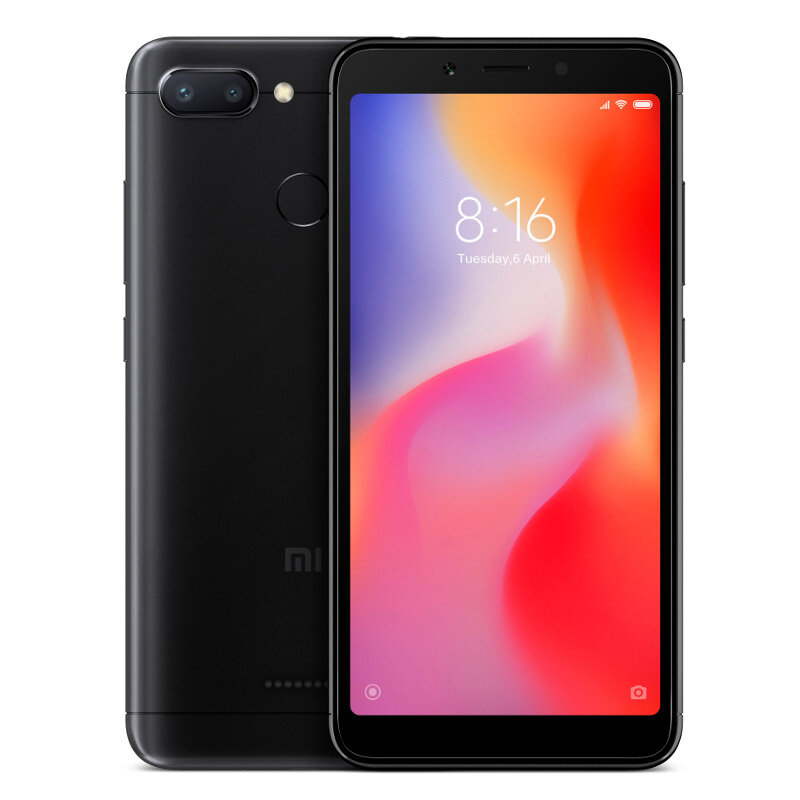 Xiaomi Redmi 6 Global Version 5 45 inch 3GB RAM 32GB ROM Helio P22 Octa  core 4G Smartphone