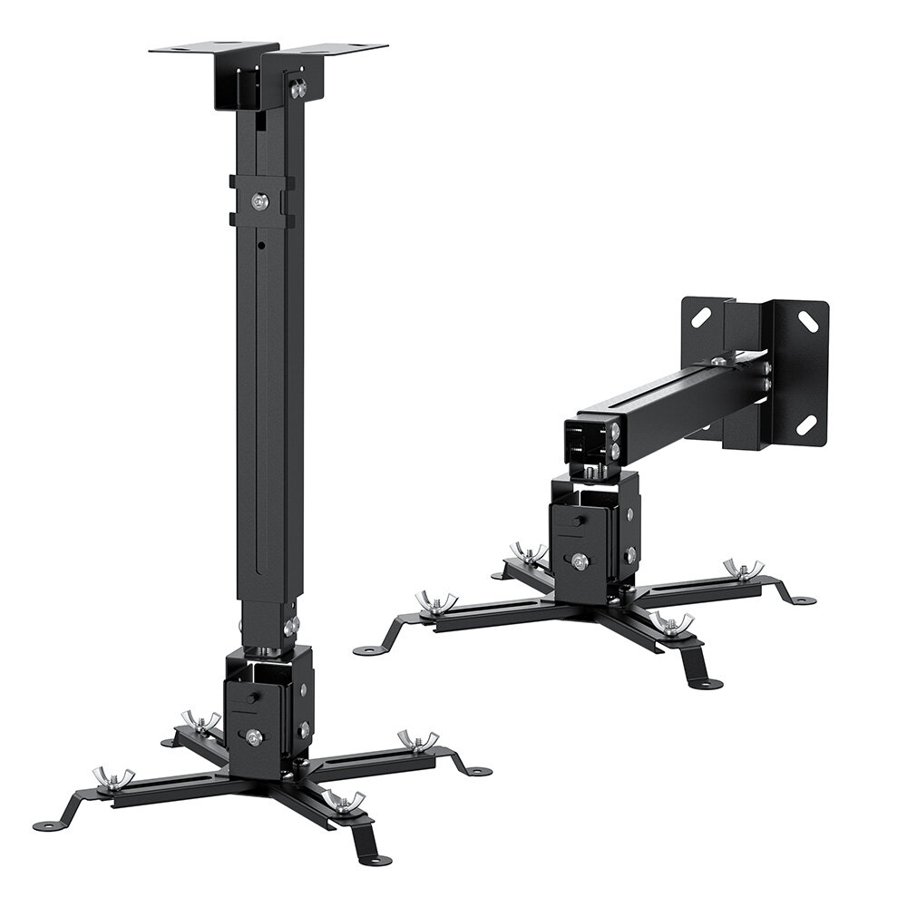 BlitzWolf® BW-VF2 Celling Wall Projector Mount Adjustable Universal Extendable Hanging Mount Bracket Projector Stand 30°