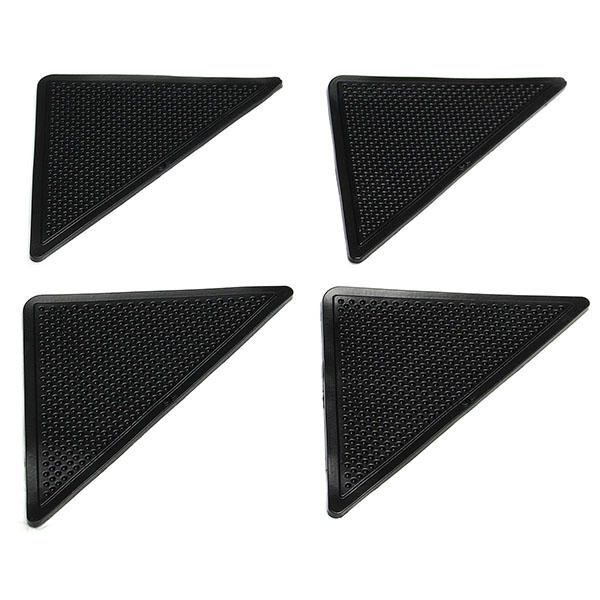 4pcs Anti Slip Coner Rubber Mat Trangle Non Slip Carpet Skid Grippers Rug - 5